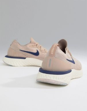 Nike Running Epic React Flyknit trainers in beige 3