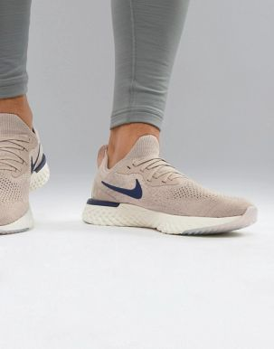 Nike Running Epic React Flyknit trainers in beige