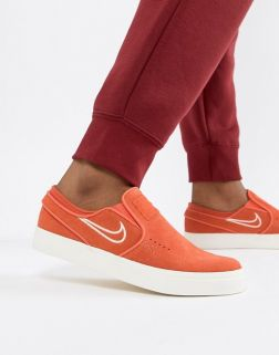 Nike Sb Janoski Slip On Trainers In Orange