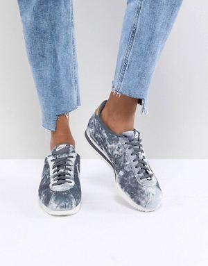 Nike Velvet Cortez In Grey