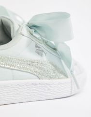 Puma Basket Heart Canvas Trainer1