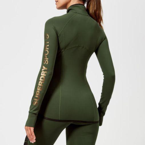 Superdry Sport Women's Track Jacket - Khaki1