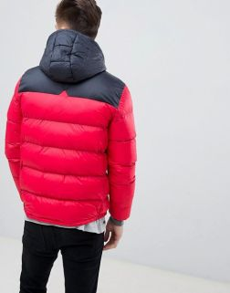 Tokyo Laundry Panelled Puffer Jacket with Hood1
