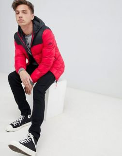Tokyo Laundry Panelled Puffer Jacket with Hood2