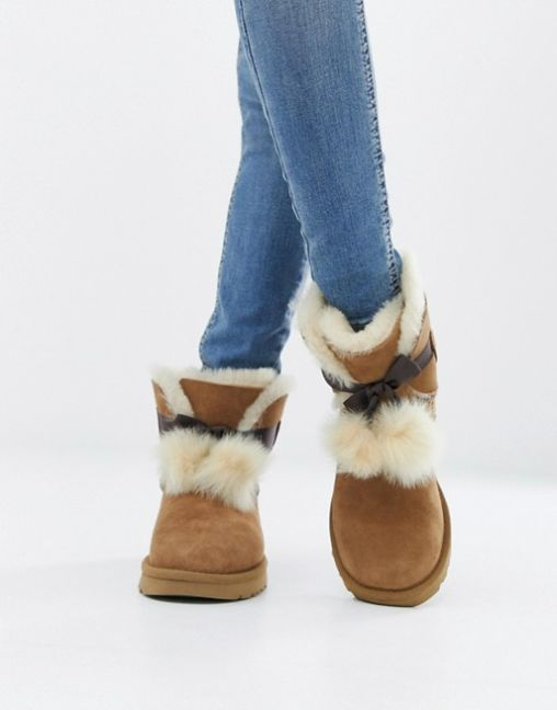 UGG Bow Chestnut Boots 2