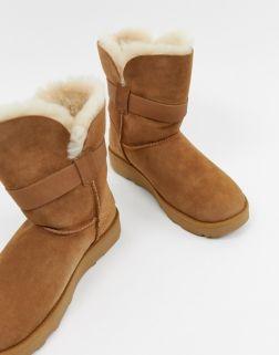 UGG Buckle Strap Chestnut Boots 2