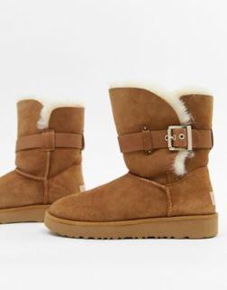 UGG Buckle Strap Chestnut Boots