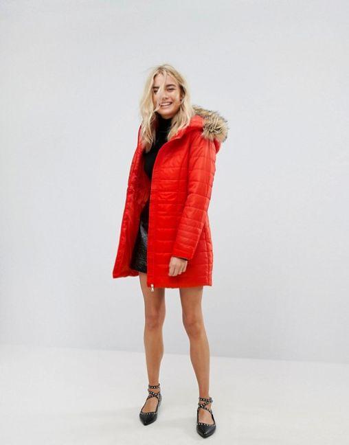 Vero Moda Padded Parka With Faux Fur Hood 2