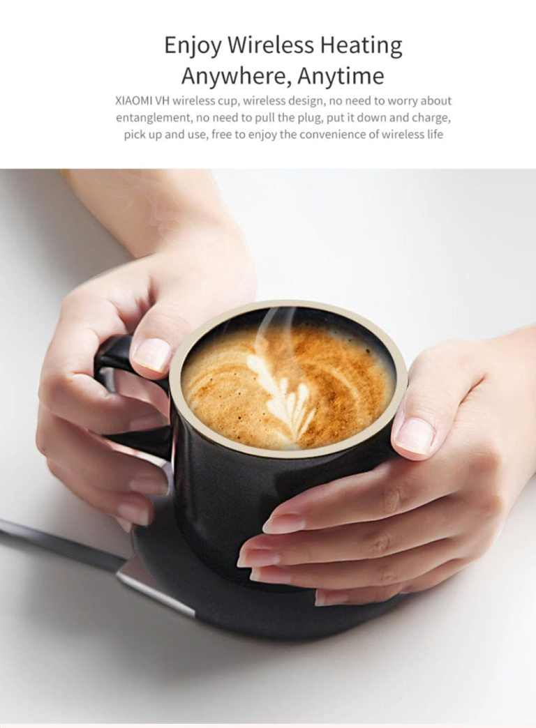Wireless Charging Mug Electric Ceramic Cup for Home from Xiaomi Youpin2
