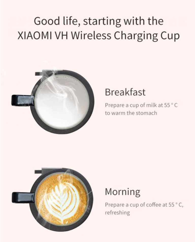 Wireless Charging Mug Electric Ceramic Cup for Home from Xiaomi Youpin4