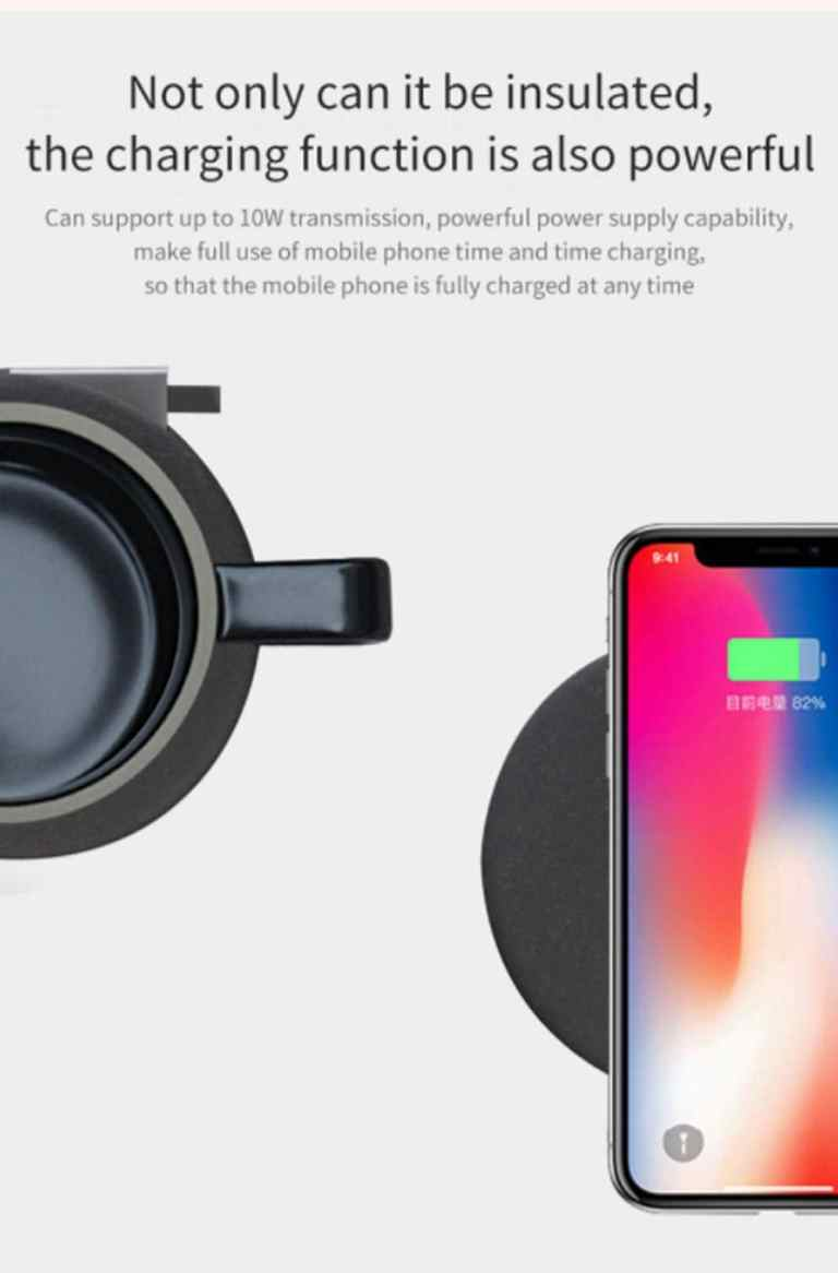 Wireless Charging Mug Electric Ceramic Cup for Home from Xiaomi Youpin5