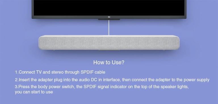 Xiaomi 33 inch TV Soundbar - WHITE5
