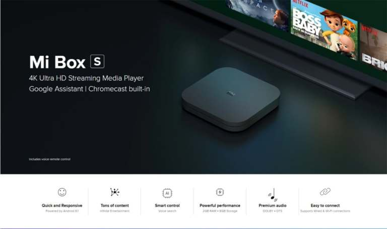 Xiaomi Mi Box S with 4K HDR Android1
