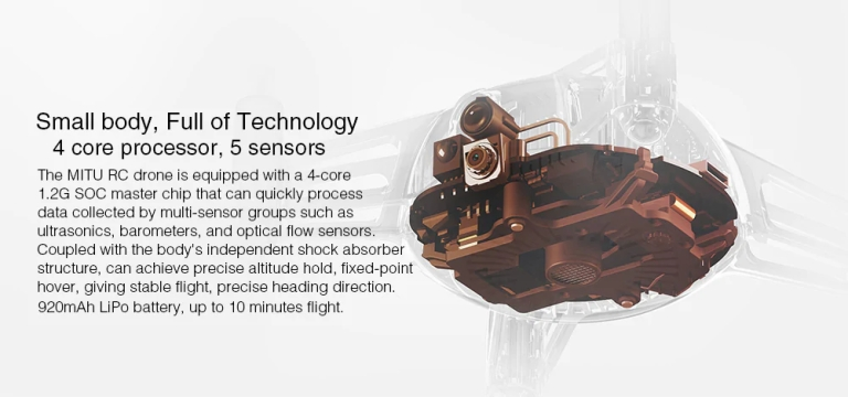 Xiaomi MITU WiFi FPV 720P HD Camera Mini RC Drone4