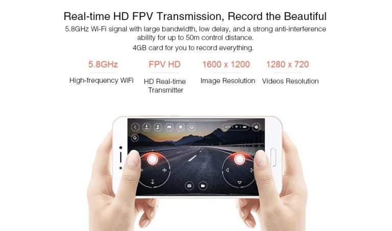 Xiaomi MITU WiFi FPV 720P HD Camera Mini RC Drone6