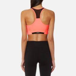 DKNY Sport Women's Mesh Insert V-Neck Bra Top - Vibrant Pink1q