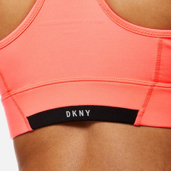 DKNY Sport Women's Mesh Insert V-Neck Bra Top - Vibrant Pink3