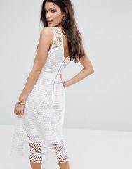 Abercrombie & Fitch Lace Zip-Back Midi Dress1