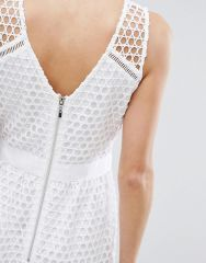 Abercrombie & Fitch Lace Zip-Back Midi Dress4