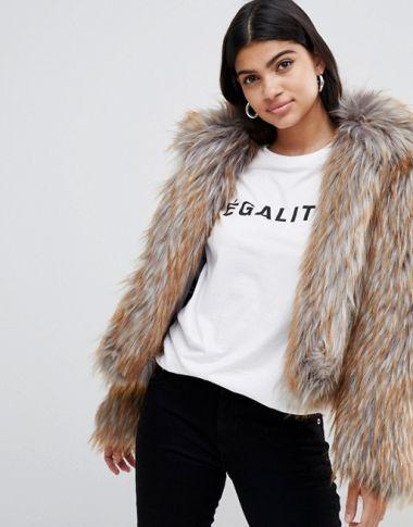 Glamorous faux fur cropped jacketvvvvvv