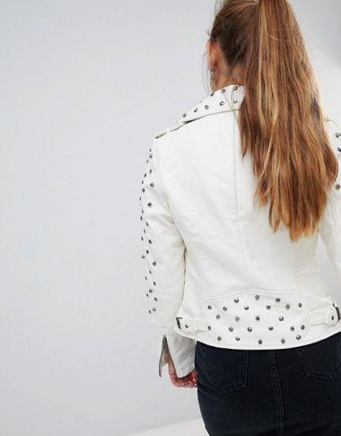 Glamorous studded pu jacket1