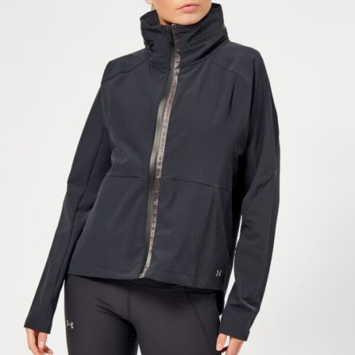 Under Armour Women's Unstoppable Woven Full Zip Jacket - Black