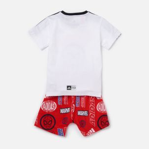adidas Boys' Infant Dy Spider-Man T-Shirt and Short Set 1