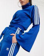 adidas Originals Bellista paper bag trousers in blue 3