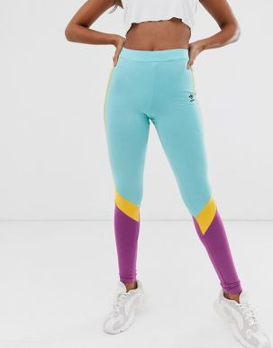 adidas Originals Sportivo leggings in mint and purple