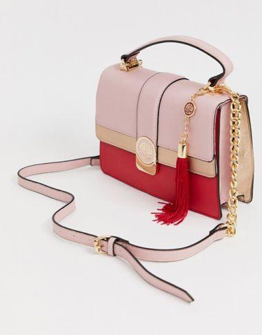 Aldo Tassel Trim Top Handle Bag
