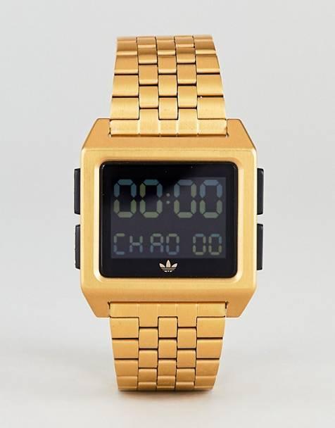 adidas Z01 Archive digital bracelet watch in gold