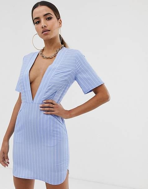 Boohoo Plunge V Neck Dress